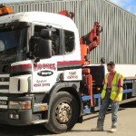 We hire in larger crane lorries for customers if required. This has a capacity of a maximum of 12.5 tonnes gross or an extra 2 tonnes on a trailer for local delveries with good access. Please note that the wooden transport crates will need to be returned to us. If we arrange delivery than, a deposit is not charged if they are returned and not left on site. The haulier charges extra to return the crates. If the crates are to be left on site for any reason, a depost is charged.