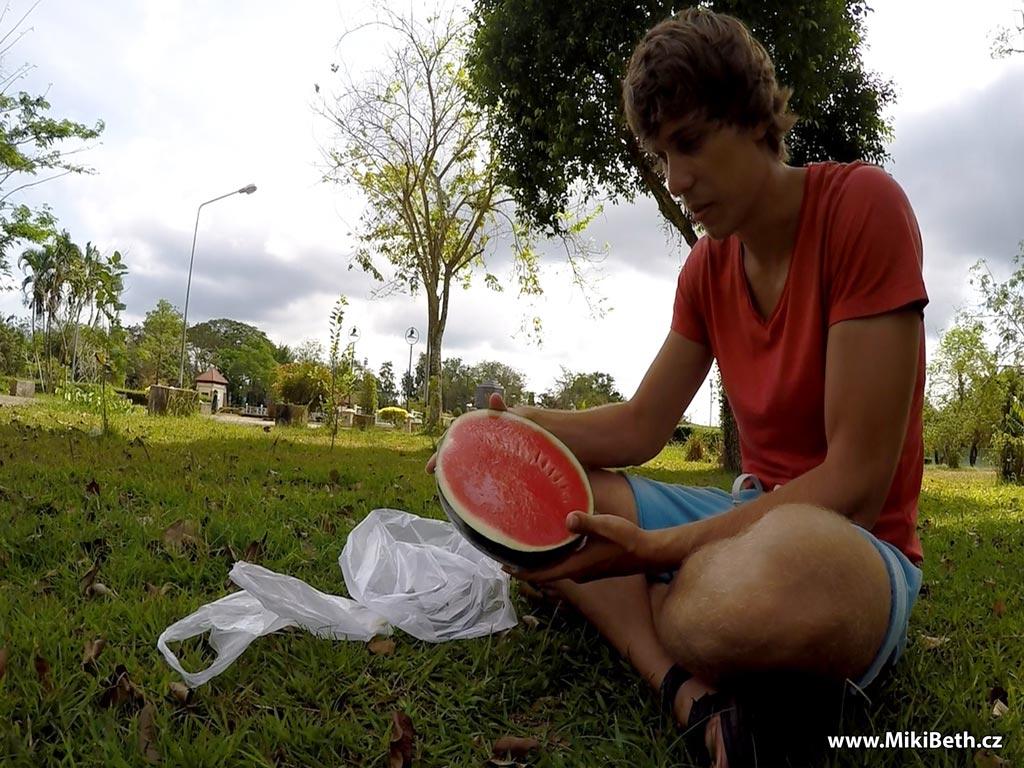meloun v parku v chumphonu