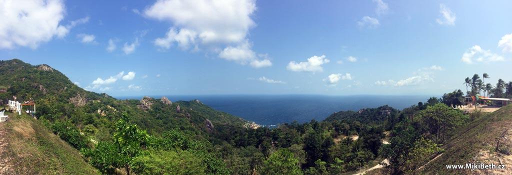 výhled na ostrově koh tao