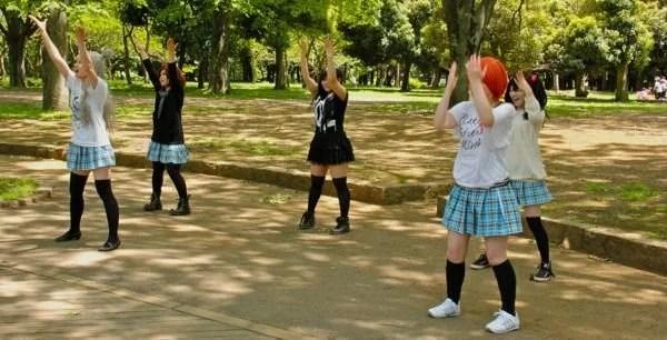 Adolescentes no Parque Yoyogi