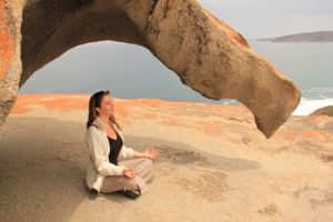 Meditando em Kangaroo Island