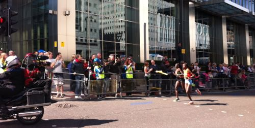Maratona de London em Canary Wharf