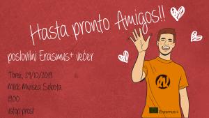 Hasta pronto, Amigos! Erasmus+ poslovilni večer