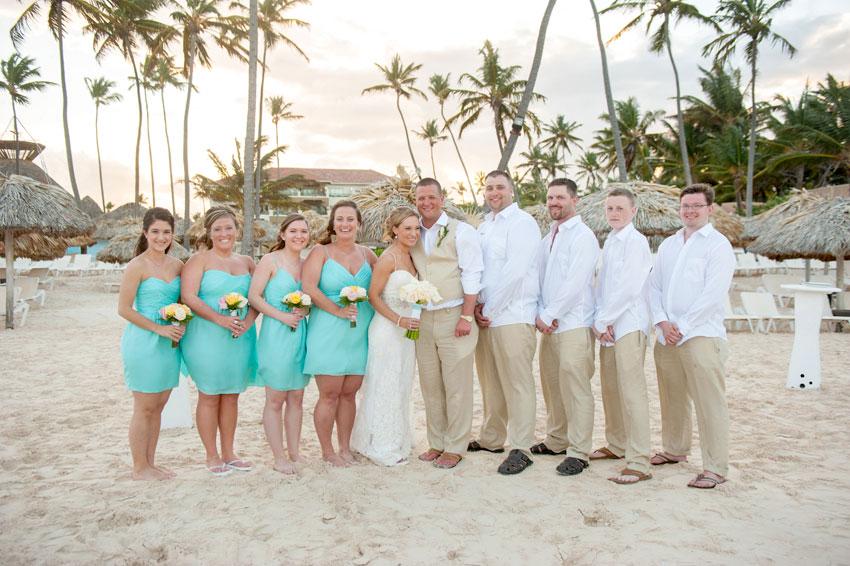 Punta Cana Destination Wedding Photographer  Caribbean Beach Front  Freyja  Tyler  Raleigh