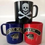 Mugs printed with naval ranks