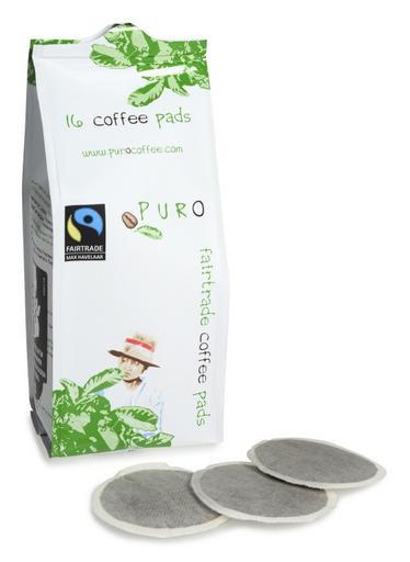 Puro Fairtrade økologisk kaffe pads