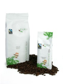 Puro Fairtrade økologisk hele kaffebønner