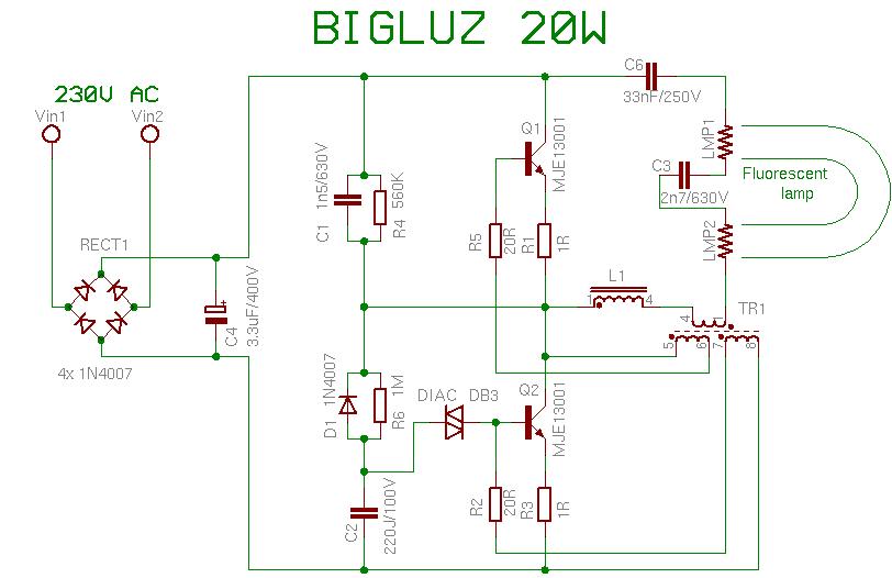 emergency ballast wiring diagram how to wire a three way dimmer switch bauteile aus energiesparlampe schaltung - mikrocontroller.net