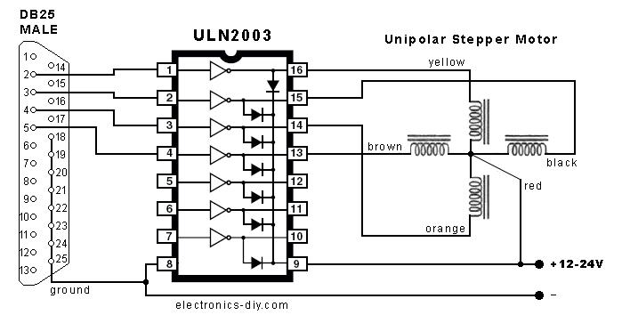 Schrittmotor über Serial Schnittstelle mit vorgeschaltenem