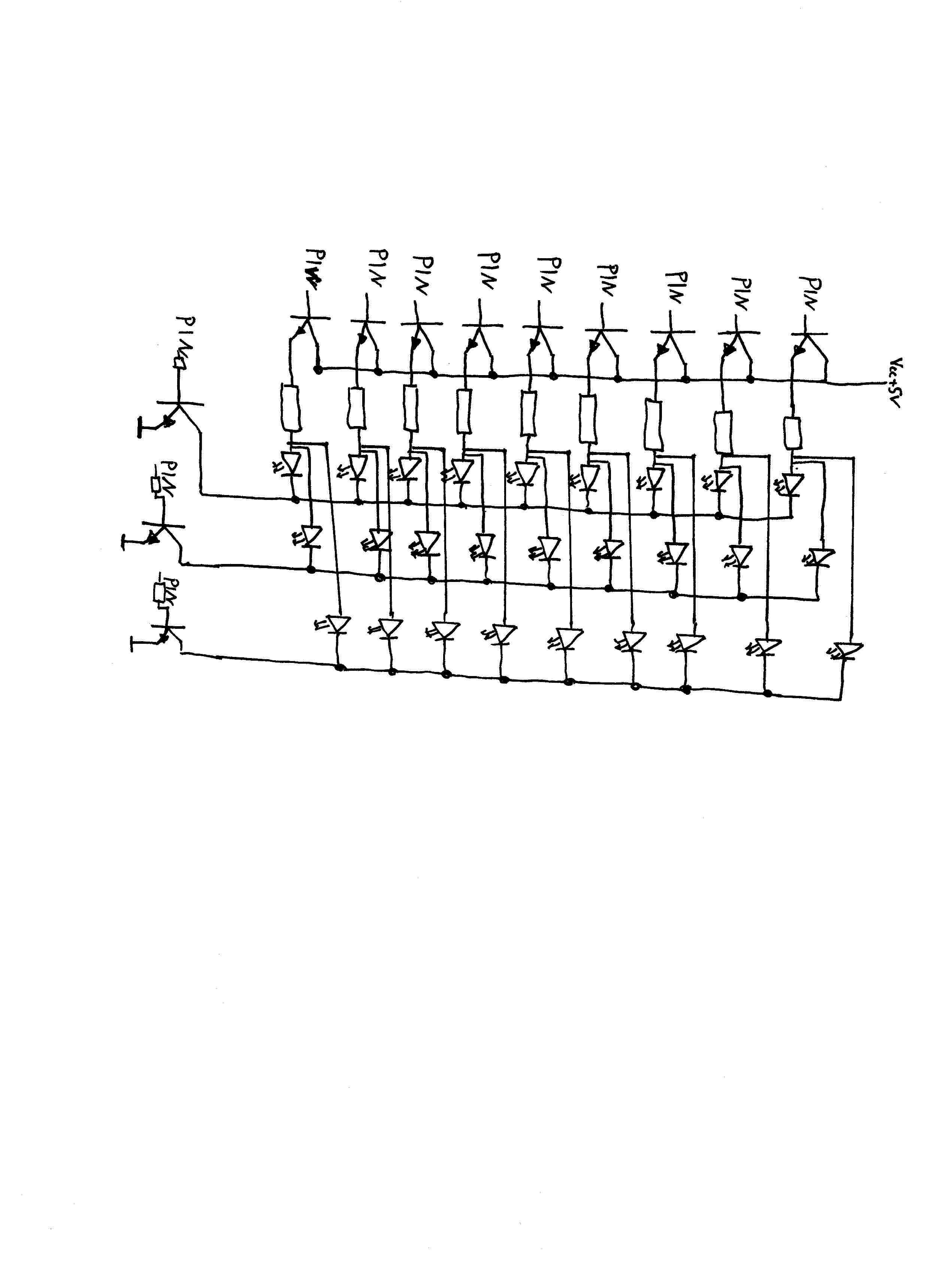 3x3x3 Led Cube Transistoren