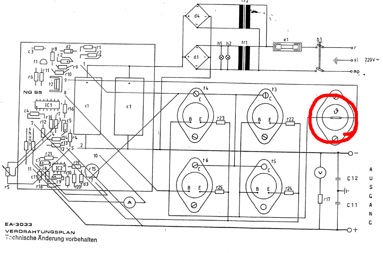 Altes Lm723 Netzteil 0 20v 20a Fehlersuche