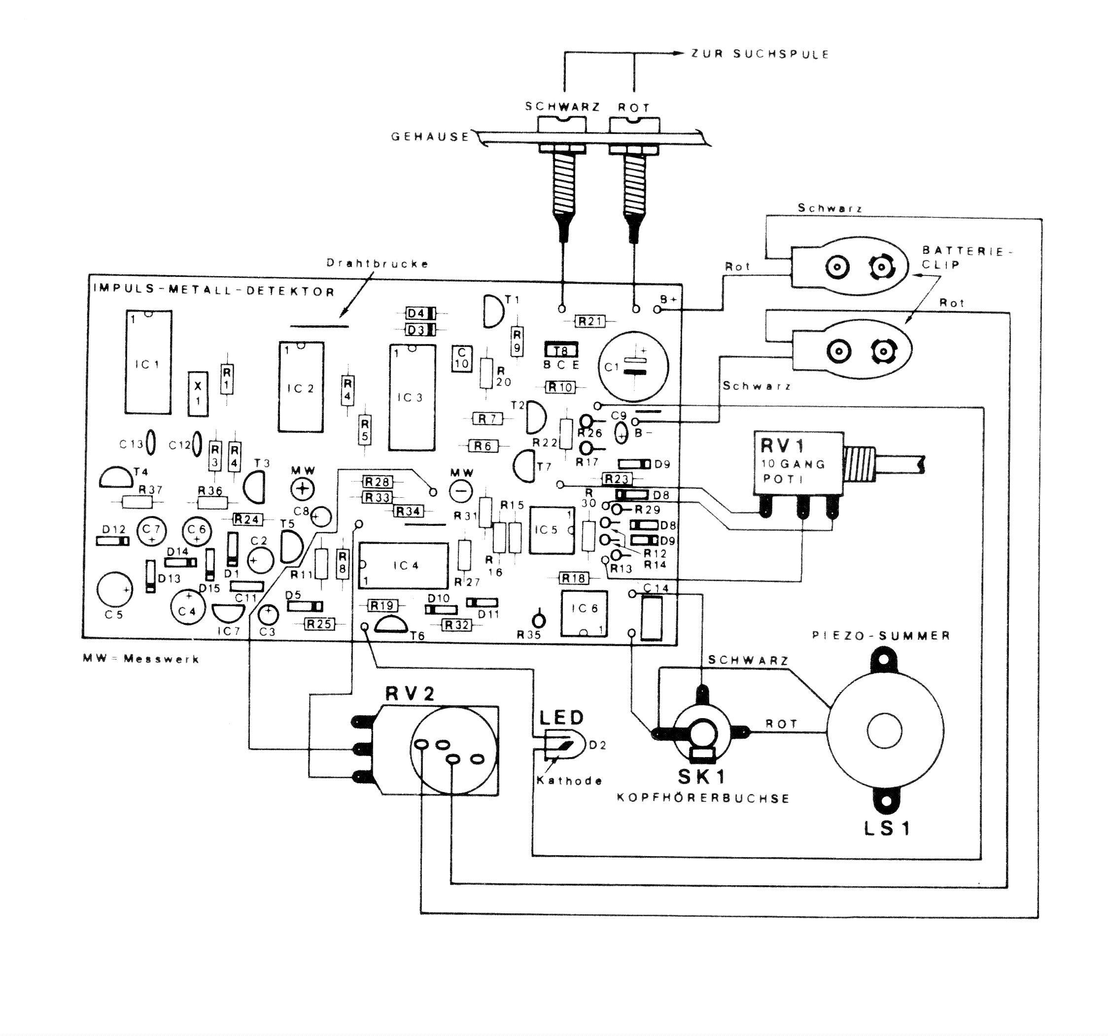 Schaltplan Metalldetektor