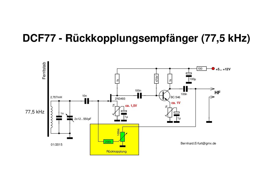 Dcf77 Empfanger Eigenbau Selber Bauen Einfacher