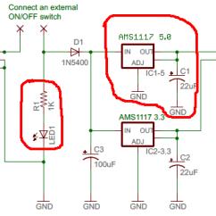Arduino Wiring Diagram House Electrical Symbols Uk Buck Module Mit Einem Ams1117 Selbst Zusammenstecken - Mikrocontroller.net