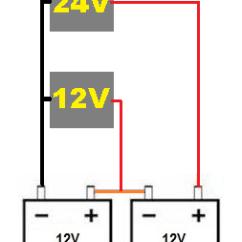 12 Volt Wiring Diagrams 14 Pin Relay Base Diagram Batterien-reihenschaltung Mit 2 Spannungen - Mikrocontroller.net