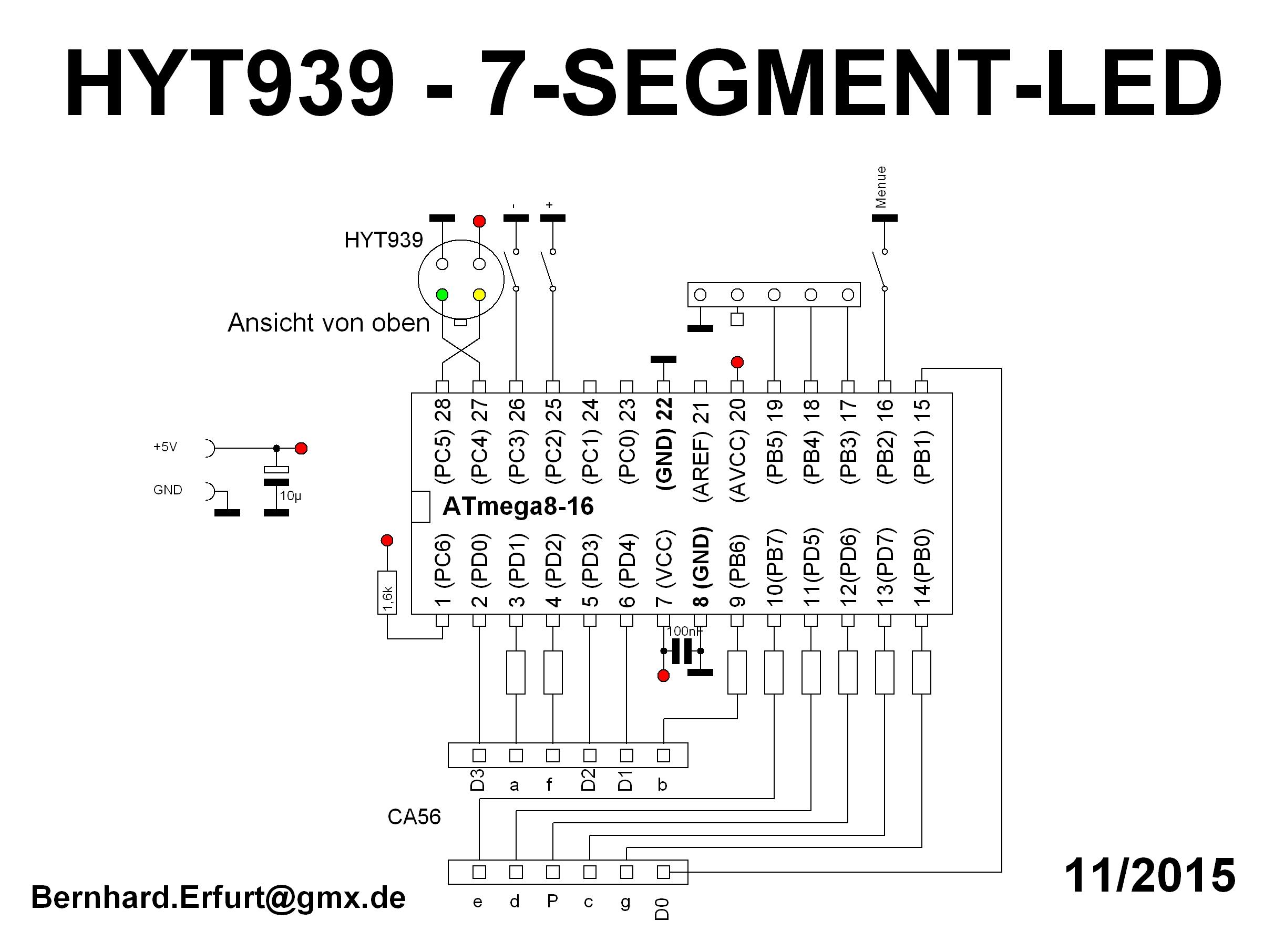 Hyt939 Hygrometer Led 7segment Atmega8 Assembler