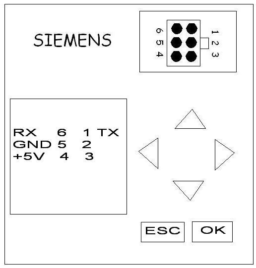 Anschlussplan für das Siemens Logo PC-Kabel