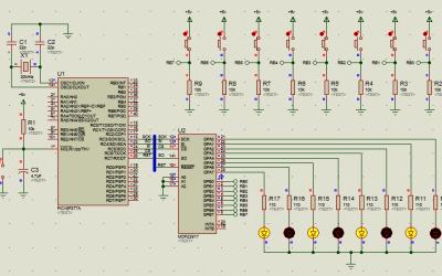 PIC16 MCP23S17 transmisión y recepción de datos