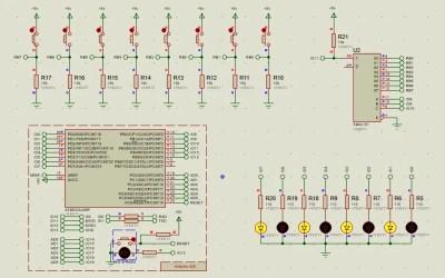 Arduino control de leds con 74HC151