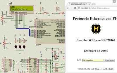 PIC18 ENC28J60 servidor web lectura y escritura