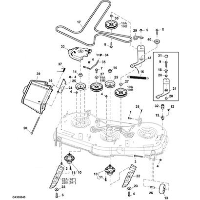 John Deere La115 Mower Deck Parts Diagram