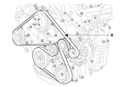 2010 Hyundai Santa Fe Serpentine Belt Diagram