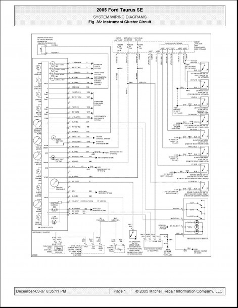 2003 Ford Taurus Wiring Diagram Pdf