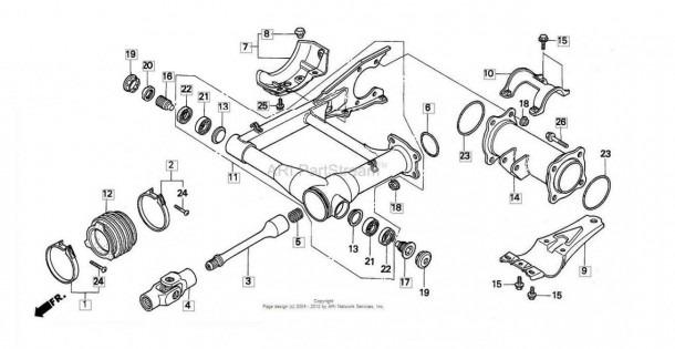 Honda Fourtrax 300 Rear Differential Diagram