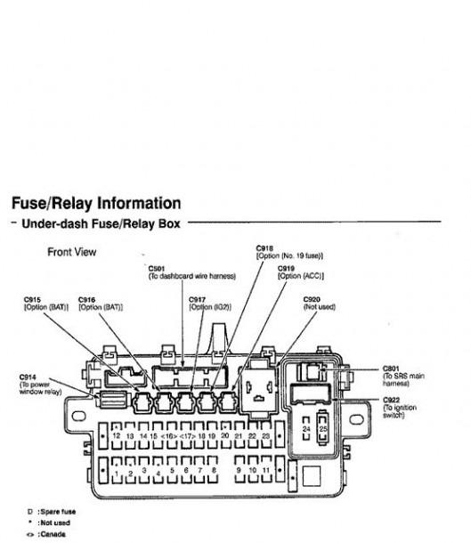 94 Honda Civic Fuse Box Diagram