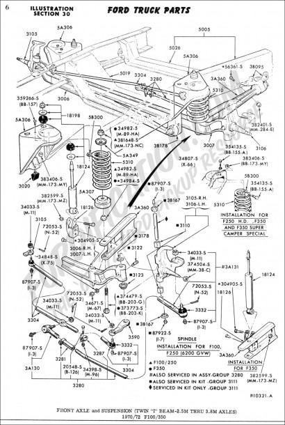 2003 Ford F250 4×4 Front Suspension Diagram