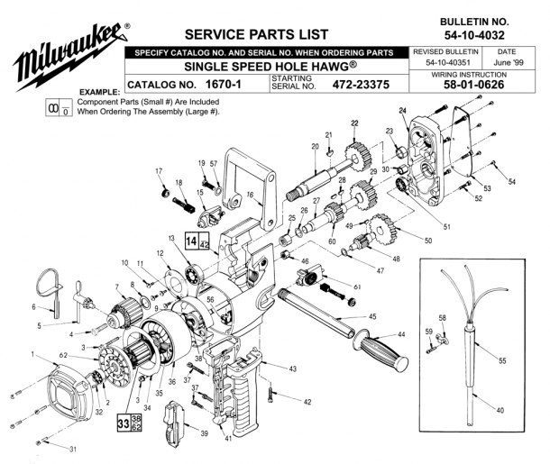 Milwaukee Hole Hawg Parts Diagram