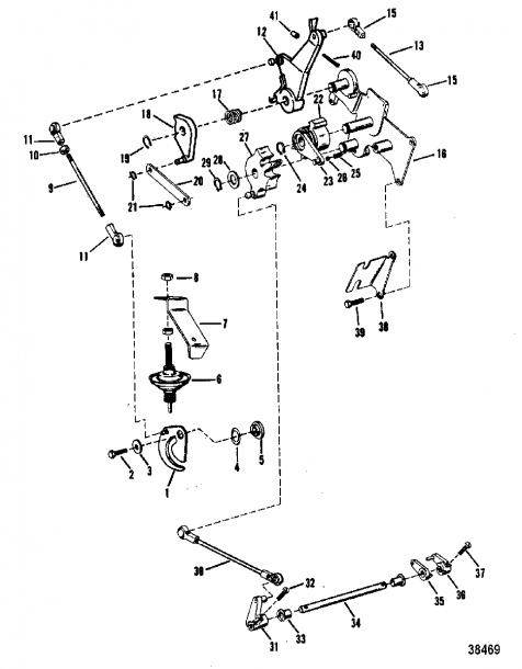 Mercury Outboard Throttle Cable Diagram