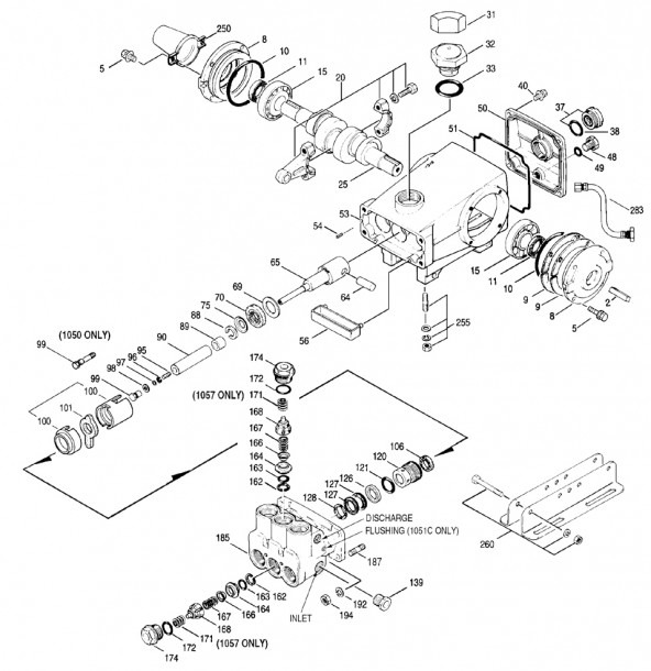 Cat Pumps Parts Diagrams