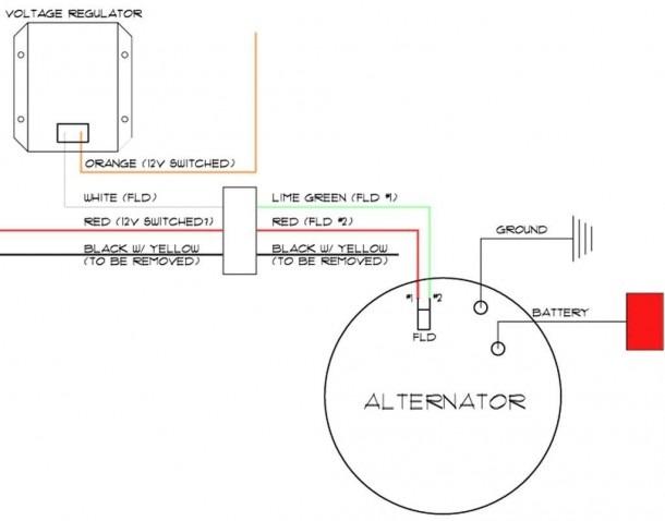 24v delco alternator wiring diagram  ceiling fan motor