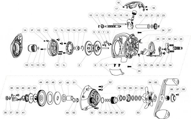 Quantum Reel Parts Diagram