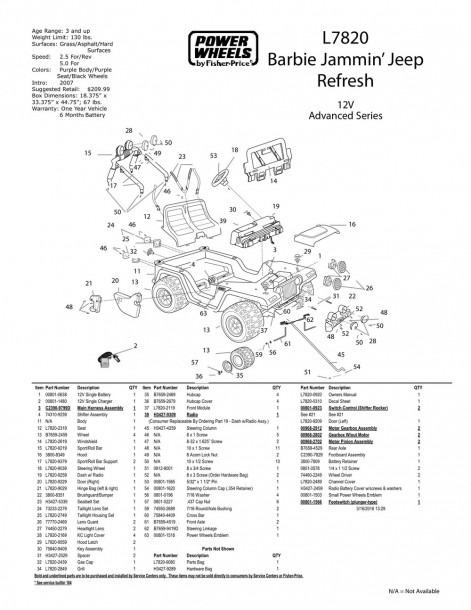 Power Wheels Jeep Parts Diagram