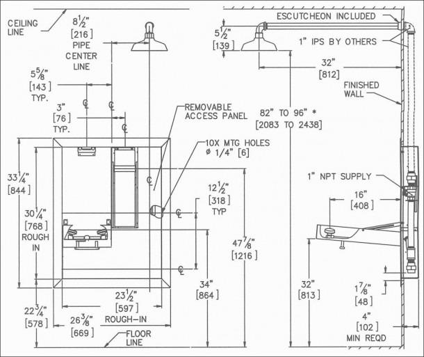 Kitchen Sink Plumbing Rough In Diagram