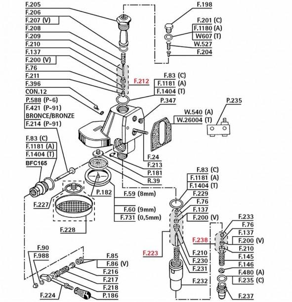La Pavoni Professional Parts Diagram