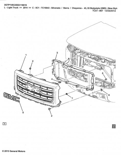 Chevy Tailgate Parts Diagram