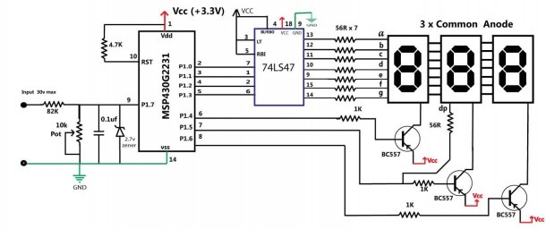 Circuit Diagram Of Voltmeter