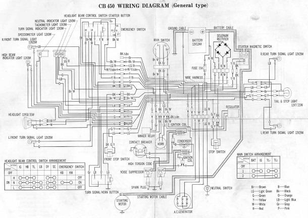 Honda Cb450 Wiring Diagram