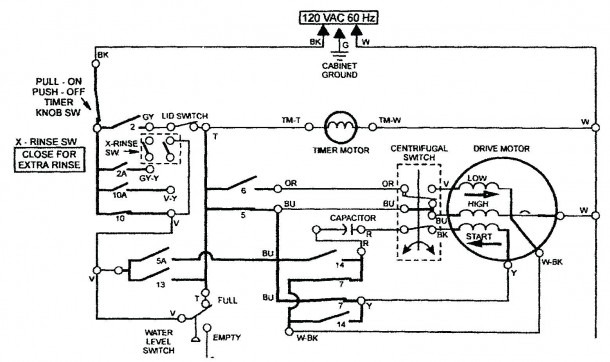 Washing Machine Motor Controller Circuit Diagram