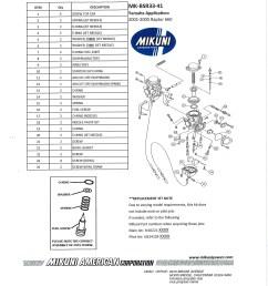 mikuni mk bsr33 41 carburetor rebuild kit exploded view parts list [ 2550 x 3300 Pixel ]