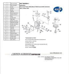 fits oem mikuni tm40 carburetors on arctic cat and polaris snowmobiles with a 1 8 float valve  [ 2550 x 3300 Pixel ]