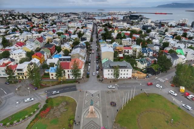 Reykjavik vista da igreja Hallgrimskirkja.