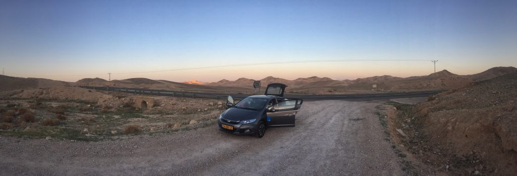 On our way to the dead sea