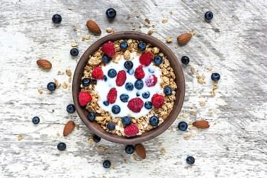 Greek Yogurt with Nuts, Fruits, and Oats