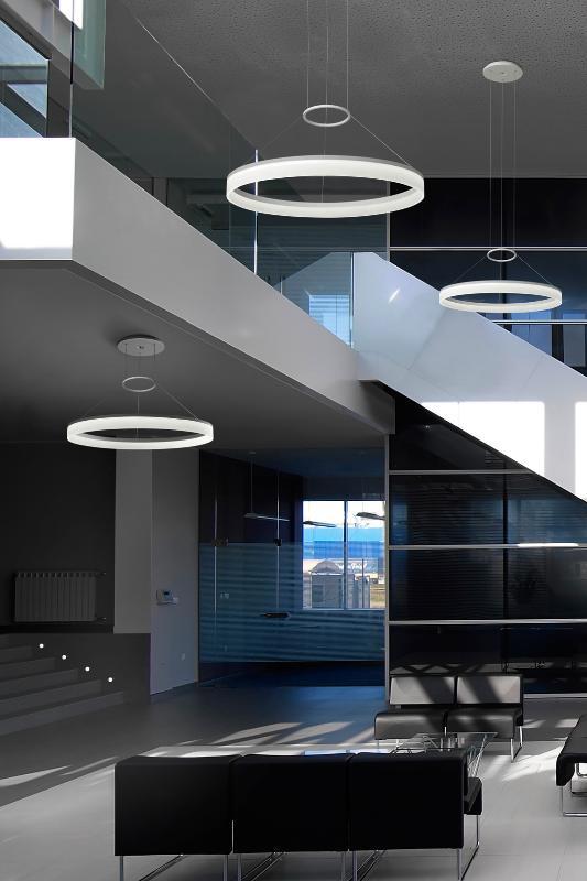 LedsC4 Circ Colgantes modernos 1 Aro iluminacion LED