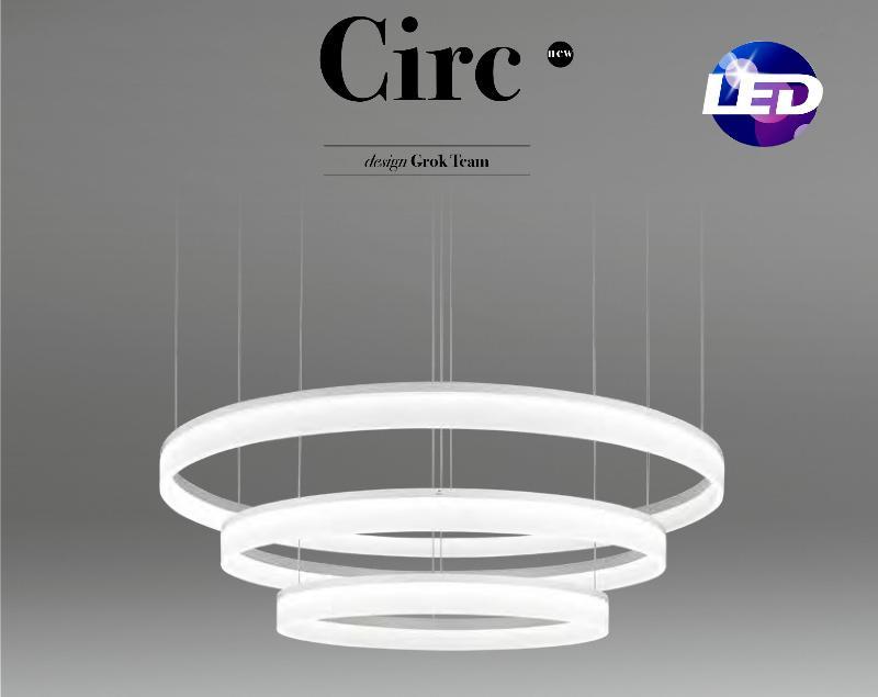 LedsC4 Circ Colgantes moderno LED 2y3 aros Grok