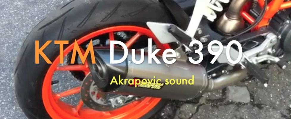 KTM 390 Duke Akrapovic sound